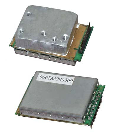 Close-Up View, with and without heatsink.
