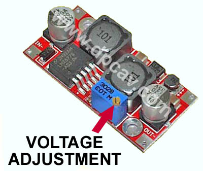 Voltage Adjustment Location Shown Here