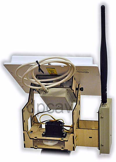 Kit with 900MHz antennas and receivers, back view.