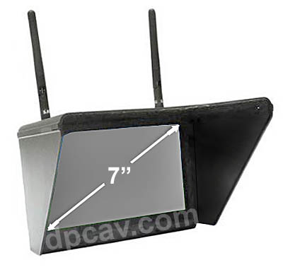 7-inch (diagonal) TFT display with sun shade