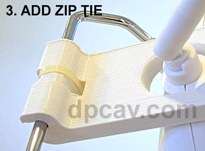 Step 3: Add zip tie for security