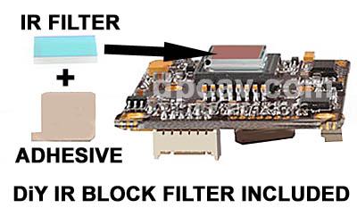 IR Filter included for DiY installation.