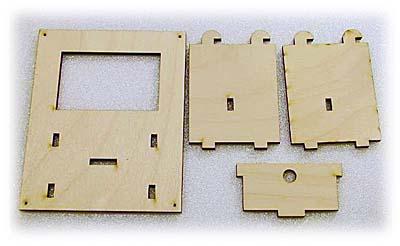 Laser cut wood parts.