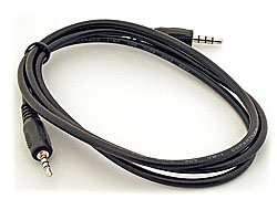 A/V Cord, 4-Pin 2.5mm/3.5mm Phone Plugs (36-inch)