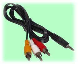 RCA Plugs (3) to A/V 4-Pin 3.5mm Plug