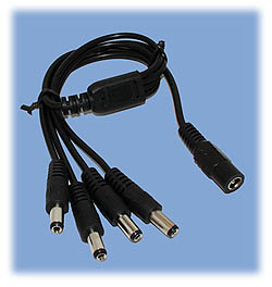 Four-Headed Power Cord (2.1mm Barrel Type)