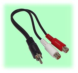 RCA 1-to-2 Splitter Cable