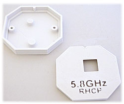 Plastic Cover for 5.8GHz Circular Polarized Patch Antenna (White)
