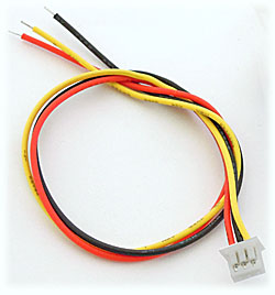 3-Pin Pigtail Cable for Cased FatShark Transmitter or PZ0420 Camera