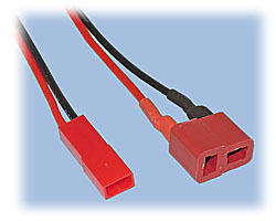 Battery Adapter Cord, JST BEC to T-Connector (Female)
