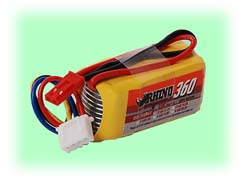LiPO Battery - 11.1VDC (3-Cell) / 360mAH