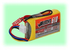 LiPO Battery - 11.1VDC (3-Cell) / 610mAH