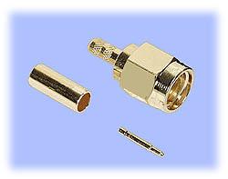 SMA Straight Plug, Crimp (3-Piece Design)
