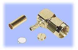 SMA Right Angle Plug, Crimp