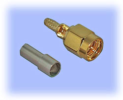 SMA Straight Plug, Crimp (2-Piece Design)