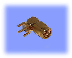 SMA Connector, Right Angle Plug, PCB