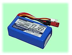 LiPO Battery - 11.1VDC (3-Cell) / 1300mAH