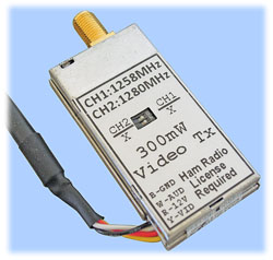 1.3GHz A/V Transmitter, 300mW (1258MHz Compatible)