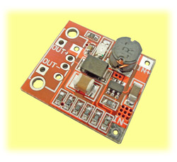 Mini Voltage Regulator, 3V to 5V Step-Up (1S LiPO Compatible)