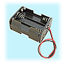 6-Cell AA-size Battery Holder With Wire Leads