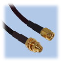 SMA Extension Cable, KSR195 (LMR195) Coax, Straight Plug