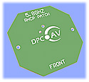 5.8GHz Circular Polarized Patch Antenna, +5dBi (SMA)